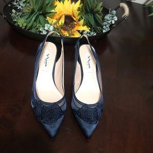 Nina Blue Heels Size 8